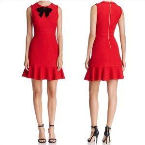 KATE SPADE NEW YORK Ruffle Hem Tweed Dress